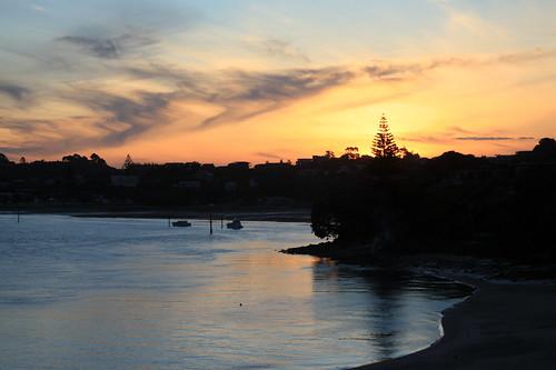 sunset newzealand sun northland nzl mangawhaiheads