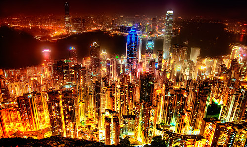 Hong Kong Skyline | by Sprengben