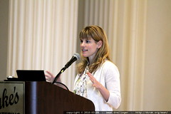 Hallie Janssen introducing a panel discussion of Facebook - _MG_7633.embed | by sean dreilinger