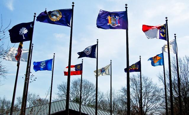 Thirteen Colonies Flags