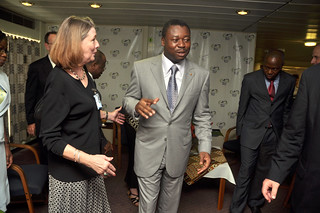 PRESIDENT FAURE ESSOZIMMA GNASSINEGBE VISITS THE AFRICA MERCY   by Photo2217