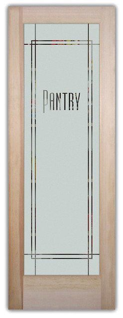maple frosted glass pantry door for contemporary kitchen | Kitchen Door Pantry Glass-Decorative Pantry Door ...