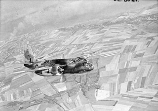 """Douglas BOSTON aircraft of the Royal Air Force taking part in Operation JUBILEE, the raid on Dieppe. / Aéronef Douglas BOSTON de la Forces aériennes royales prenant part à l'opération """"Jubilee"""", le raid sur Dieppe"""