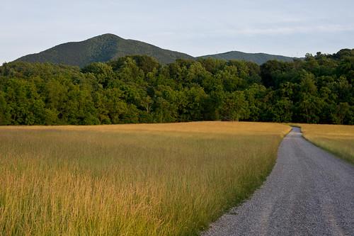 road sunset summer mountain field grass rural evening hay gravel salemva