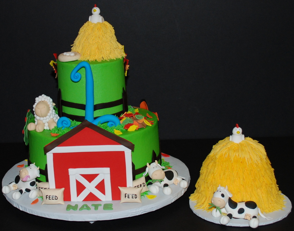 Fantastic Farm Birthday Cake Here Is Version 3 Of The Farm Birthday Flickr Birthday Cards Printable Opercafe Filternl