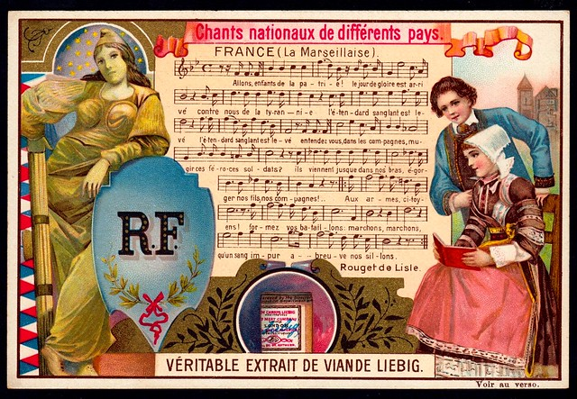 Liebig Tradecard S593 - National Anthems - France