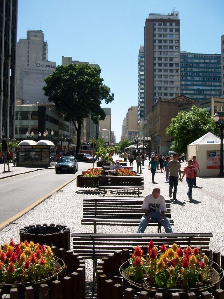 A Rua Das Flores Curitiba Brazil Flowers Street Is