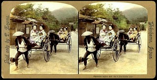 DOUBLE TROUBLE -- Four Merry Maiko Heading Out for a Ride in Old HIKONE, JAPAN | by Okinawa Soba (Rob)