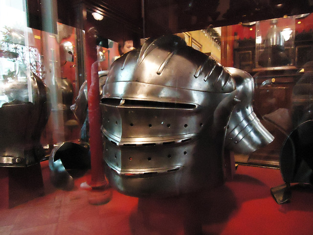 Bellows visored sallet | A great, full-visored sallet with a