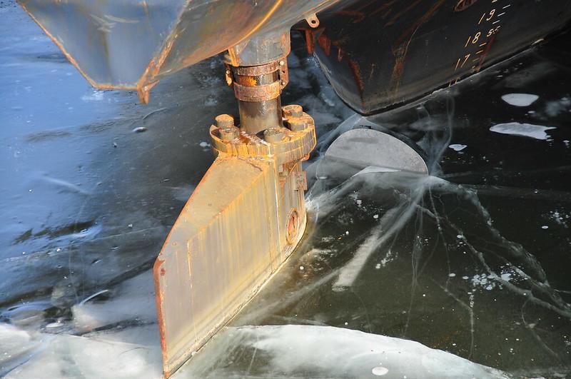 Gouvernail dans la glace