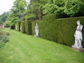 A line of statues in the grounds of Cottesbrooke Hall | by ell brown