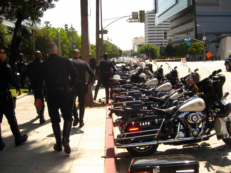 LAPD funeral