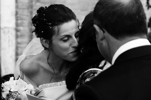 The bride kiss