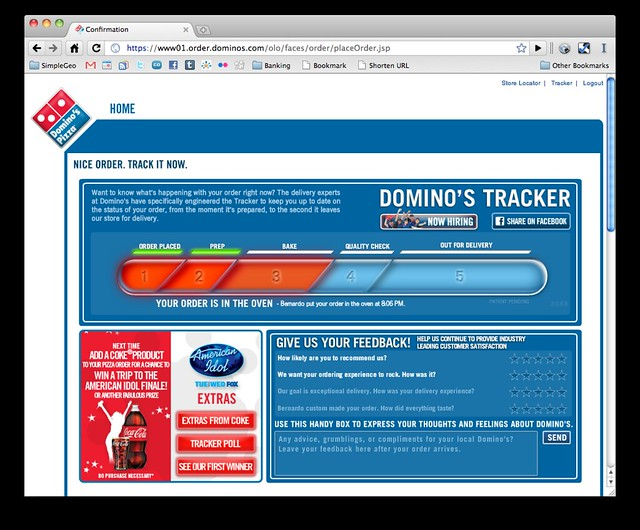 Domino S Pizza Tracker Matt Galligan Flickr