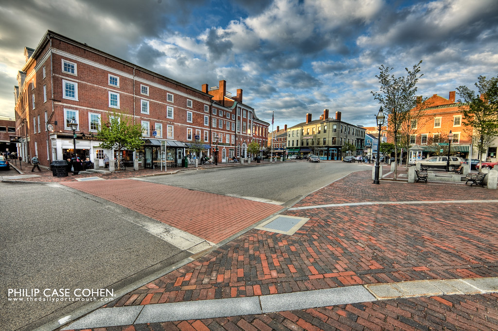 Friday Evening in Market Square by Philip Case Cohen