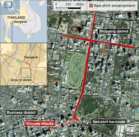 Map of Bangkok blasts | by newleypurnell