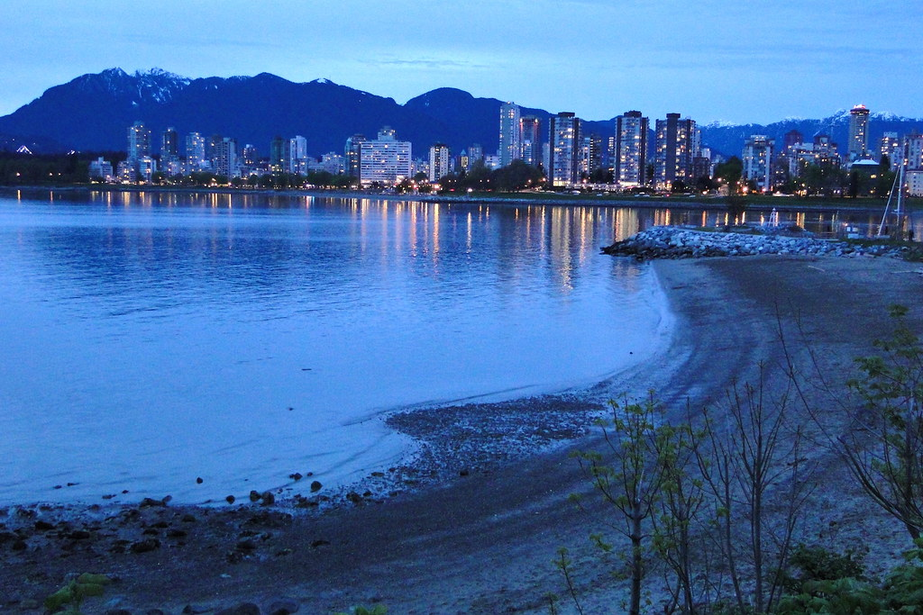 Dusk View of Downtown and West End from Kitsilano Beach - … | Flickr