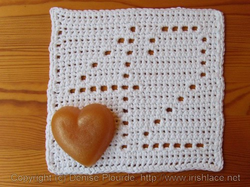 42 crochet cloth with heart | by irishlacenet