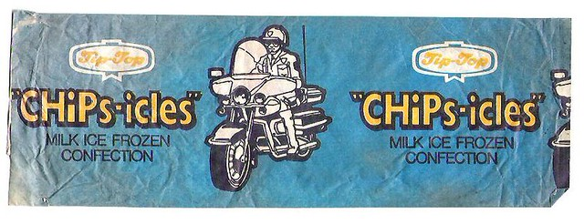 1970s Tip Top CHiPs Ice Block Wrapper