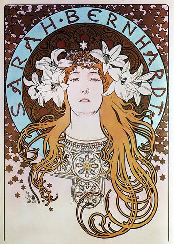 Alphonse Mucha - A16b Sarah Bernhardt/La Plume, 1897.