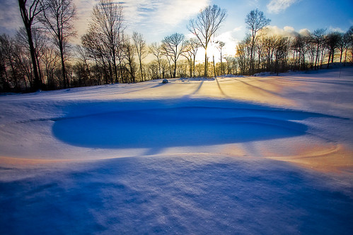 blue winter sunset snow cold golf saturated colorful connecticut stamford cafeshow etravus reddingcountryclub