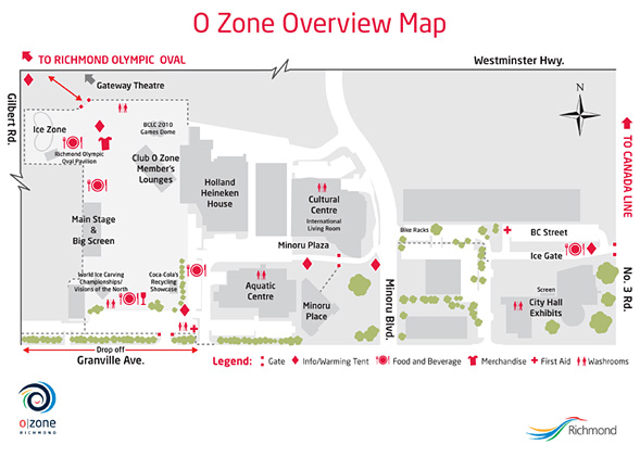 Richmond O Zone overview map