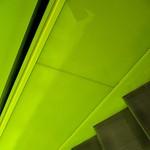 seattle public library # 17 / chartreuse escalator