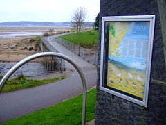 Coastal cycle path at Blackpill taken by Paul Gadsby