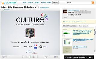 Présentation de CultureClic par Atout France sur SlideShare