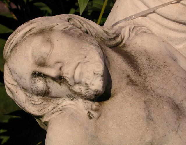 Pieta detail - Hamden CT cemetery