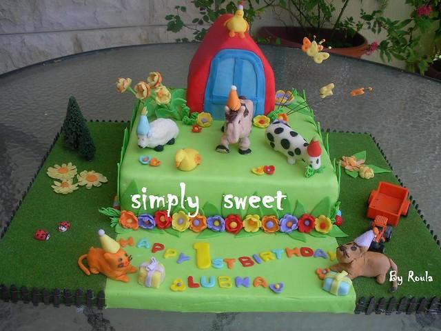 Groovy Animals Birthday Cake Simply Sweet Jo Flickr Funny Birthday Cards Online Benoljebrpdamsfinfo