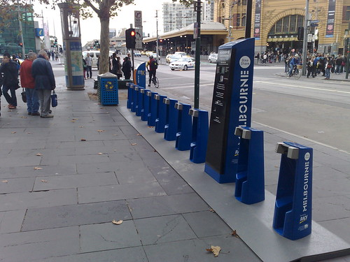 Melbourne Bike Share station, St Paul's
