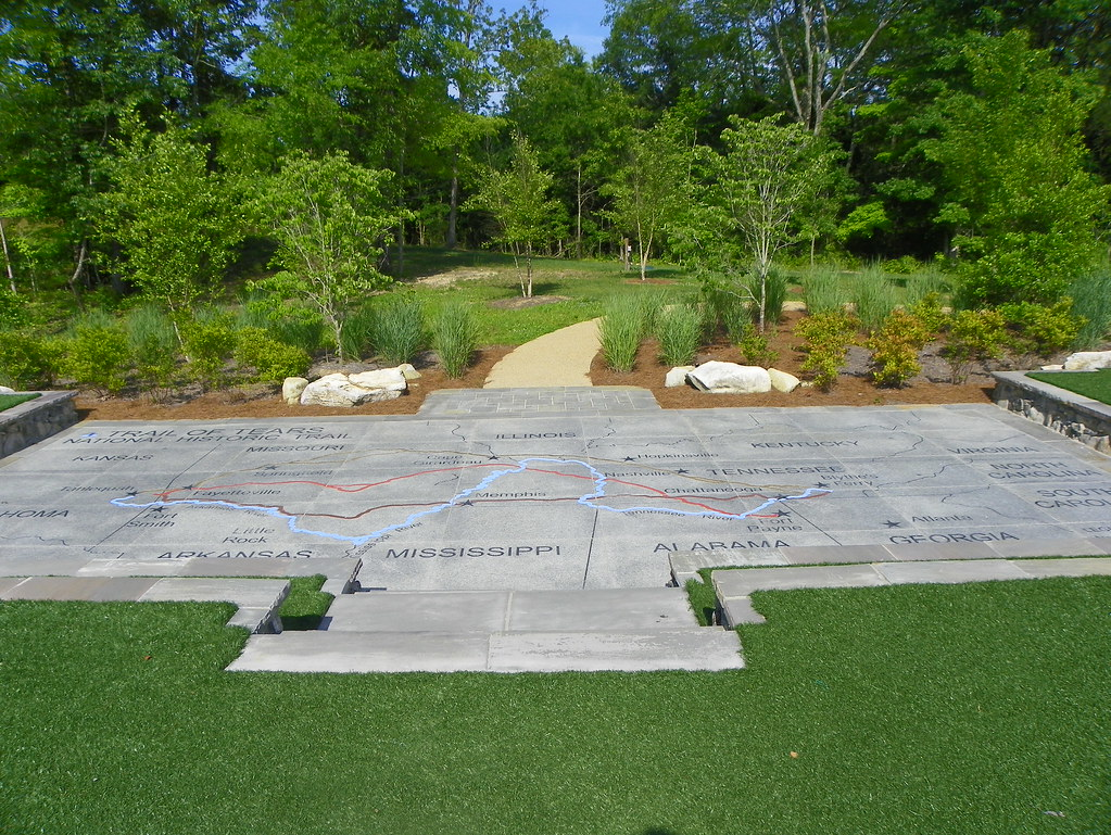 Trail of Tears Outdoor Map | This patio, at the Trail of Tea