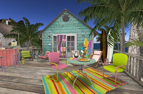 Fiesta Beach Shack: Back Deck | by Hidden Gems in Second Life (Interior Designer)