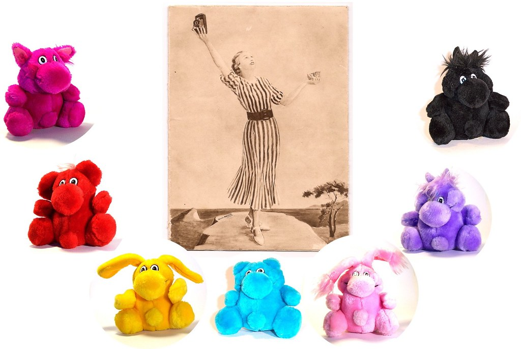 The Kodak Girl and the 7 Kodak Kolorkids | Plush stuffed ani