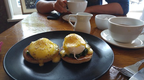 Eggs Florentine at the Two Bridges Hotel, Dartmoor | by pluralzed