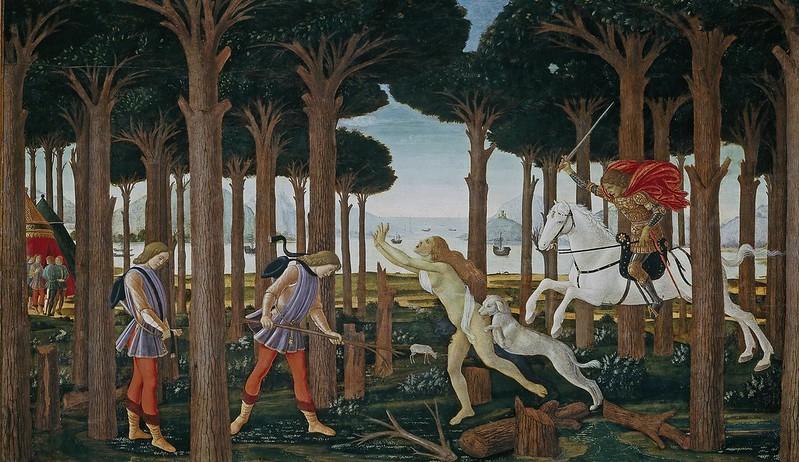Sandro Botticelli - La historia de Nastagio degli Onesti 1