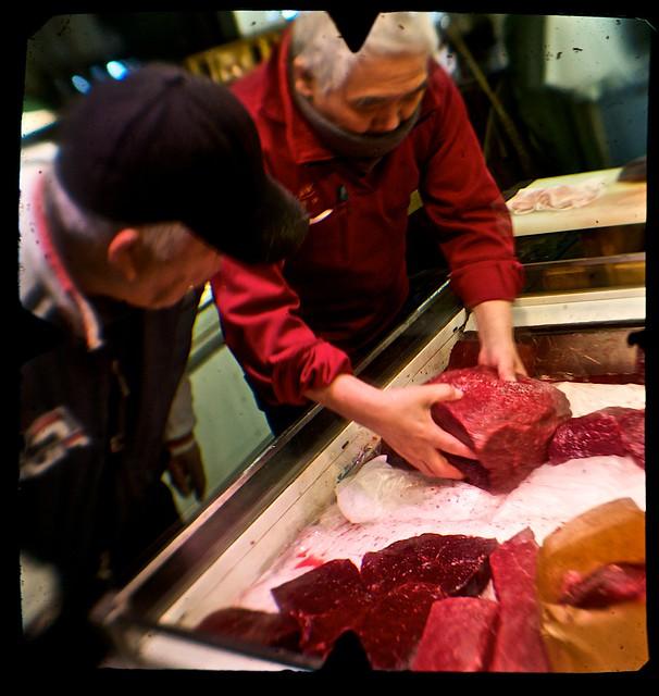 Whale Meat Sales, Tsukiji Fishmarket, Tokyo, Japan