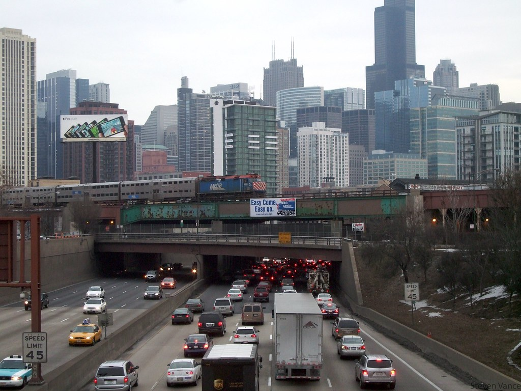 Chicagoland Expressway Congestion Map on