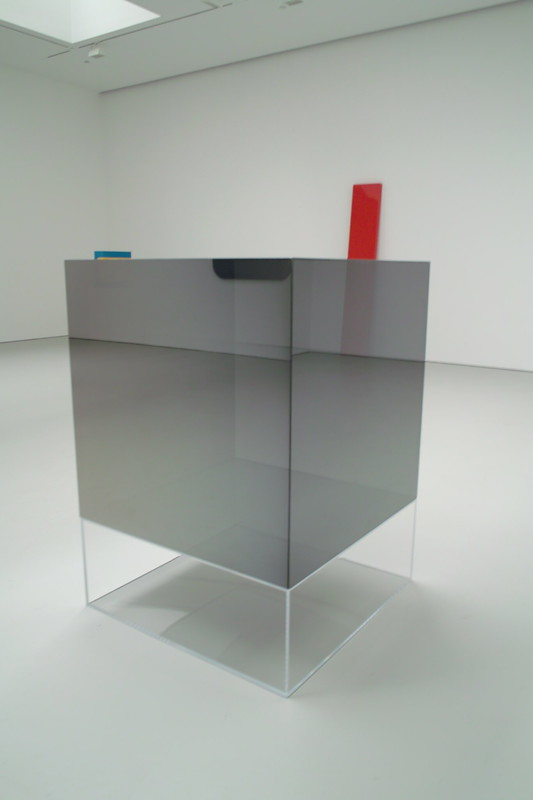 LARRY BELL  Untitled  1969  Mineral coated glass  40 x 40 x 40 inches  101.6 x 101.6 x 101.6 cm