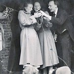 Ada Lee on left with the Armstrong family. Coronation Party 1953