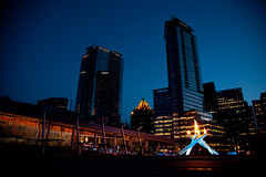 Vancouver Olympic Torch with IBC and Shaw building | by Morten Rand-Hendriksen