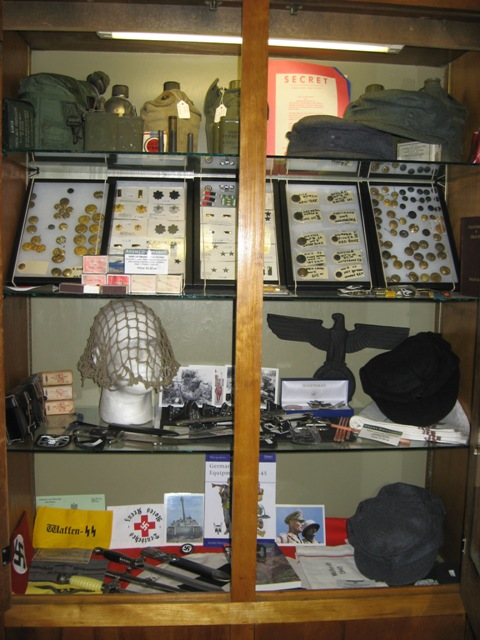 WWII US and Nazi army medals, pins, patches and Nazi badge… | Flickr