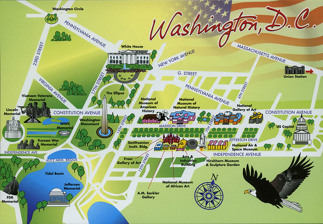 postcard - Washington DC Mall map | Jy-50 | Flickr on