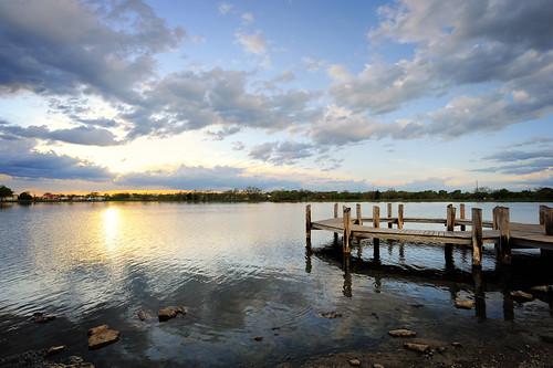 sunset sun lake set night nebraska cloudy lincoln sunsetting oaklake