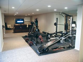 total basement finishing  home gym  total basement