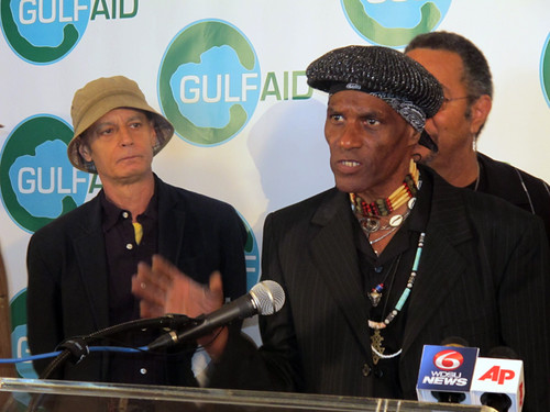 Cyril Neville speaks his mind at a Voice of the Wetlands press conference