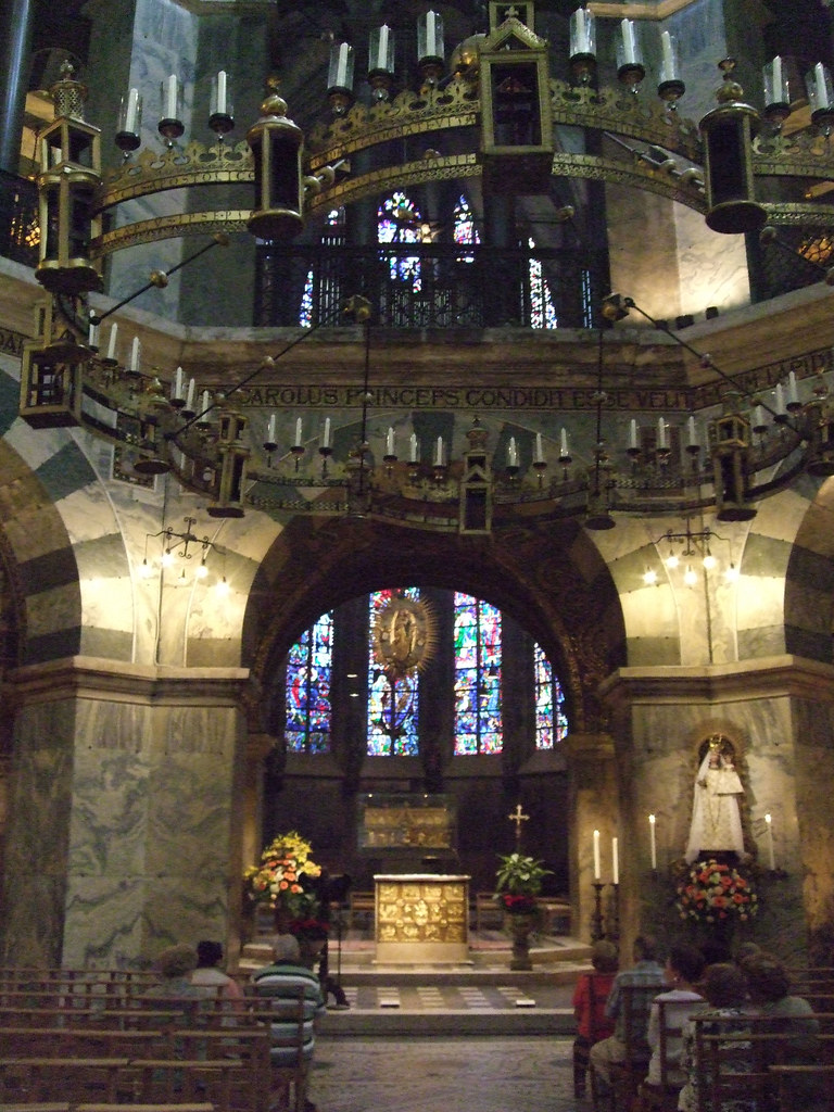 Interior Of The Palatine Chapel, Aachen Cathedral - Germany.