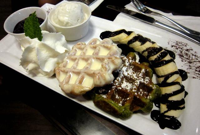 Waffles at Michi Waffle & Espresso Bar