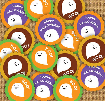 photo about Halloween Stickers Printable named Totally free Printable Halloween Stickers or Tags Heres a free of charge pr